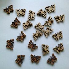 15 x Wooden Butterflies craft shapes