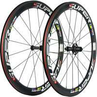 SUPERTEAM Carbon Road Wheels 50mm 25mm Width Carbon Wheelset UD Matte Race Bike