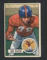 1951 Bowman #57 Jon Baker VG/VGEX NY Giants 100593