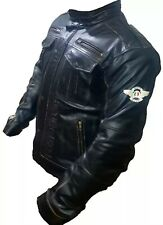 Moto Guzzi Custom Made Best Quality Racing Leather Jacket For Mens