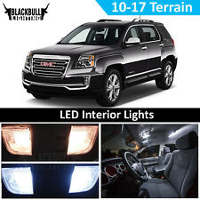 White LED Interior Light Accessories Kit MAP DOME for 2010-2017 GMC Terrain 7 PC