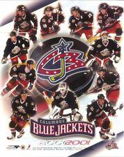 COLUMBUS BLUE JACKETS 8x10 2000-01 NHL TEAM PHOTO Inaugural Season 1st Year ohio