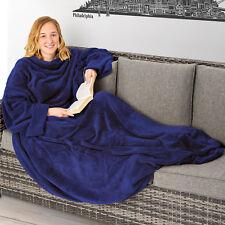 Coperta con tasche le maniche soffice dormire divano copriletto tasca 170x200 bl