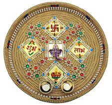 handicraft handmade Decorative Puja Thali with kumkum box with ganesha