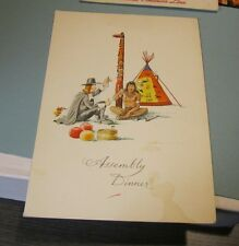 1971 Holland America Cruise Ship Lines SS Nieuw Amsterdam Menu Indian Totem Pole