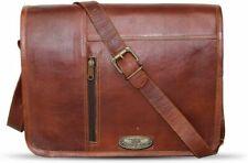 Bag Messenger BriefcaseGift For Him Men Genuine Leather Satchel Shoulder Laptop