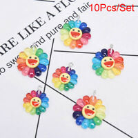 10Pcs/Set Resin Sun Flower Charms Pendant Jewelry Finding DIY Making Craft G Fy