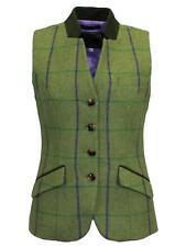 Ladies Margate Tweed Waistcoat Purple Check 12