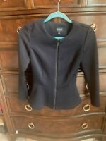 TOP SHOP Black Peplum Zip Front Jacket NWOT
