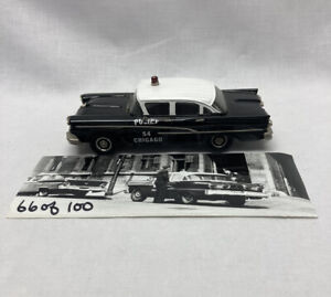 PTH MODELS MUSCLE CAR WESTERN MODELS CHICAGO POLICE CAR 1958 FORD 1/43 SCALE
