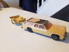 "Matchbox 5"" DODGE MONACO ESTATE & TRAILER Diecast Car 1978 SUPERKINGS K-67/68"