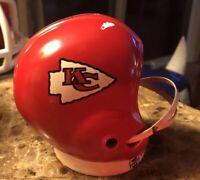 Vintage 1960s Kansas City Chiefs Ceramic Helmet Bank.rare