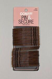 """Conair Pin & Secure Brown Hair 48 Bobby Pins 2-3/4"""" Long   Brown  NEW"""