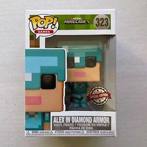 Funko Pop Minecraft Alex in Diamond Armor Special Edition - 323