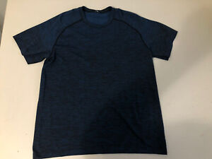 Blue Lululemon Athletic Yoga Shirt Mens L Large