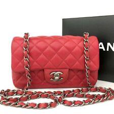 CHANEL Quilted 20 Single Flap CC TurnLock Lambskin Chain Mini Shoulder Bag/eeEGX