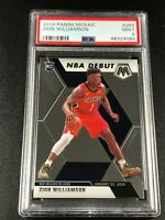 ZION WILLIAMSON 2019 PANINI MOSAIC #269 NBA DEBUT ROOKIE RC PSA 9 PELICANS (B)