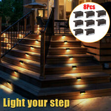 8x Solar LED Bright Deck Lights Outdoor Garden Patio Railing Decks Path Lighting