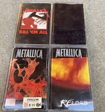 Lot Of 4 Metallica Cassettes Felt intact, Black, Kill 'Em All, ReLoad, Load