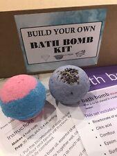 Build Make Your Own Bath Bomb Kit Set Gift Present -Coconut Oil Full Ingredients