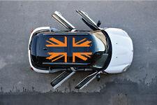 Mini Cooper UK Flag Set Top Side Vinyl Decal Door Window Reflective Cast Vehicle