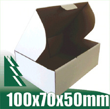 100 x Cardboard Boxes 100x70x50mm White Packaging Carton Mailing Box STRONG