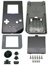 * Game Boy Classic chassis Display Vetro Coperchio della Batteria tasti SHELL NERO *