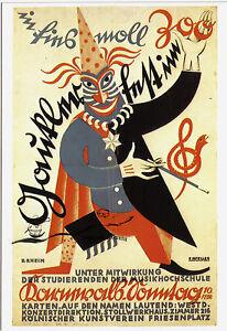 Kunstpostkarte -  Rudolf Rhein:  Karnevalsplakat Köln, um 1925