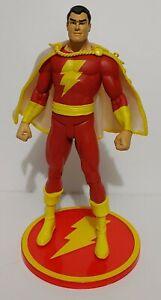 Shazam Captain Marvel DC Direct 2007 Figure Movie LOOSE VHTF w/Cape & Base