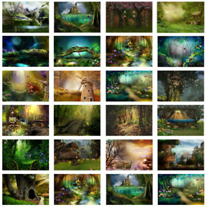 Nature Forest Fairyland Backdrop Photography Props Wall Background Party Decor