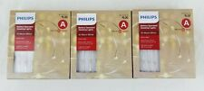 3PK Philips 30ct Christmas Battery Operated LED Dewdrop String Lights Warm White