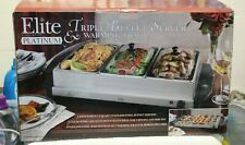 ELITE PLATINUM TRIPLE BUFFET SERVER & WARMING TRAY by MAX-MATIC