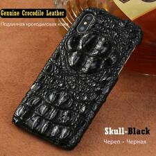 Genuine Real Crocodile Leather Case for iPhone Xs Max XR 3D Alligator Skin Cover