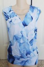 NWT Jennifer Lopez Floral Cross Over tank Necklace XS Summer womens shirt