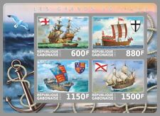 Sailing Ships from the Middle Ages m/s Gabon 2017 MNH #VG2183 IMPERF