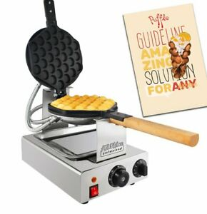 Bubble Waffle Maker | Professional Rotated Machine | Improved Manual Thermostat