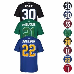 NHL Reebok Official Premier Player Name & Number Jersey T-Shirt Collection Men's
