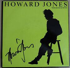 """HOWARD JONES Signed 7"""" SINGLE RECORD Sleeve 80s ICON COA"""