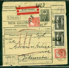 HUNGARY 1930, Provisional Handstamp BUJ provided to new post office-interesting