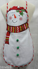 New Child's Snowman Apron Screen-Print on Cotton FREE SHIPPING