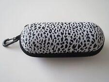 Nylon Semi-Hard Zippered Case Cover Box W/Clip For Sunglasses In Animal Prints.