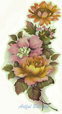 Ceramic Decals Sunflower Rose Mixed Floral Bouquet Flowers