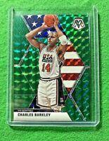 CHARLES BARKLEY MOSAIC PRIZM GREEN CARD USA BASKETBALL 2019-20 MOSAIC BASKETBALL