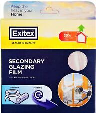 Exitex Window Insulation Secondry Double Glazing Film Draught Excluder 4.5 Sqm