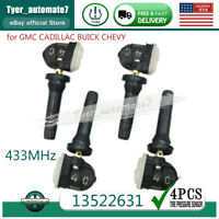 New 433MHz Set of (4) TIRE PRESSURE SENSOR TPMS for GM Buick Chevy GMC 13522631