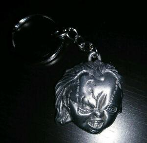 Chucky / Child's Play Metal Keychain - Horror Movie key ring- Chucky's Head