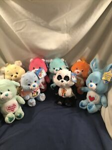 Lot Of 8 Plush 8 Inch Care Bears & Cousins