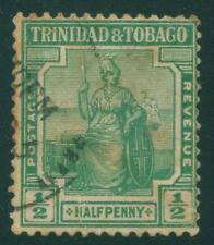 [JSC]1938 Queen Victoria  Trinidad & Tobago postage revenue 1/2p war stamp
