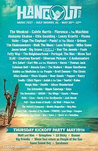 HANGOUT FESTIVAL 2016 GULF SHORES CONCERT POSTER-The Weeknd, Calvin Harris, Haim