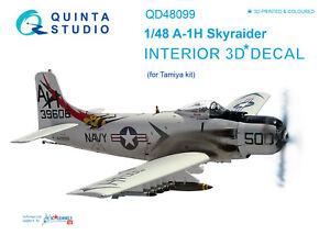 Quinta studio's QD48099 1/48 A-1H 3D-Printed&coloured interior (for Tamiya kit)